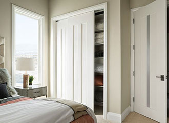 TruStile certified 75% recycled MDF doors with no added urea-formaldehyde (NAUF) featured in the 2014 New American Home, co-sponsored by NAHB and Builder Magazine